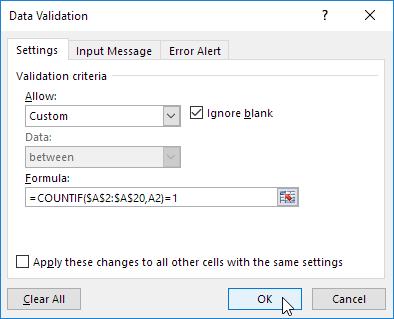 چگونگی جلوگیری از ثبت اطلاعات تکراری در اکسل