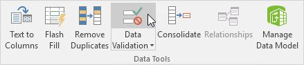 چگونگی استفاده از ویژگی data validation در اکسل، برای جلوگیری از ورود کدهای اشتباه