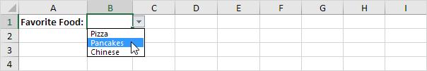 آشنایی با لیست های باز شدنی (Drop-down List) و کاربرد آن در اکسل