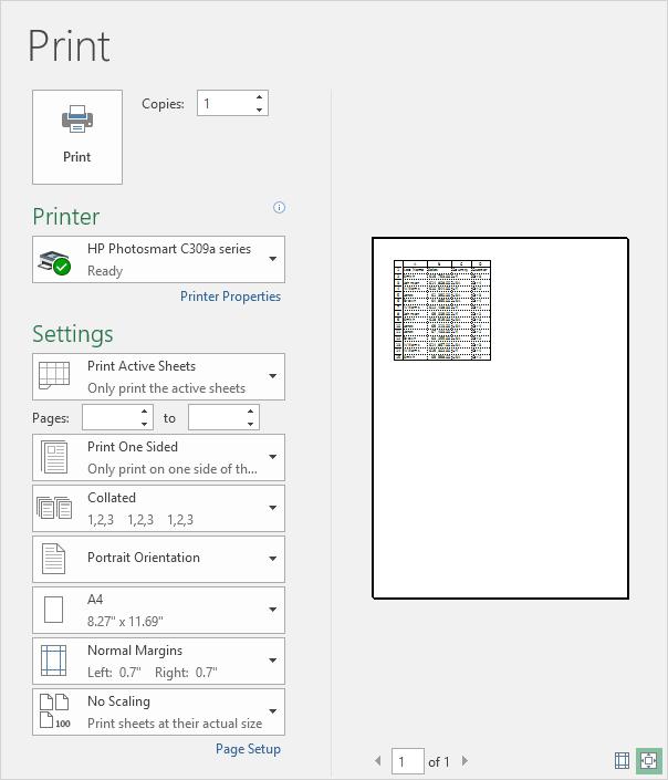 چگونگی چاپ کردن خطوط شبکه نمایش داده (Gridlines) و عنوان ها (Headings) در اکسل