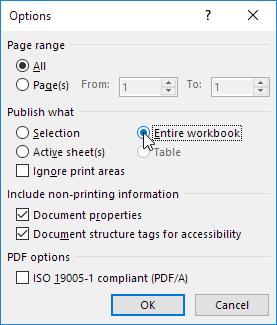 چگونگی تبدیل فایل اکسل به فایل PDF