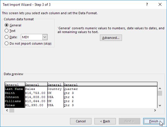 چگونگی وارد کردن یا صادر کردن اطلاعات یک فایل متنی در اکسل