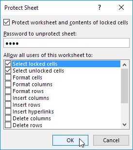 چگونگی محافظت از یک برگه خاص در اکسل (Protect Sheet)