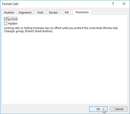 چگونگی قفل کردن سلولها در اکسل (Lock Cells)