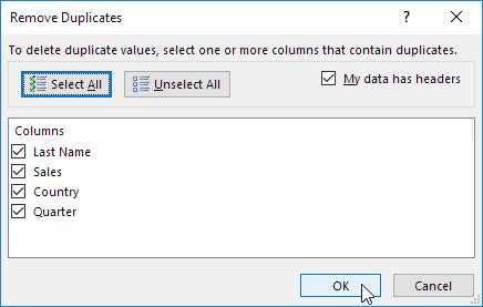 چگونگی حذف رکوردهای تکراری در اکسل (Remove Duplicates)