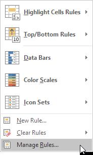 چگونگی مدیریت قوانین قالب بندی شرطی (conditional formatting rules) در اکسل