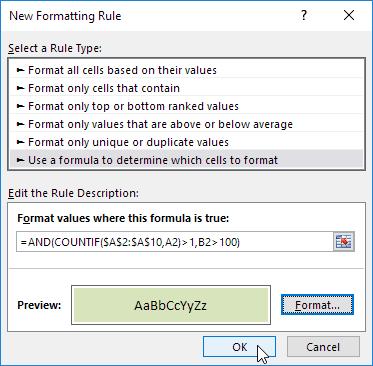 چگونگی ایجاد قانون جدید در قالب بندی شرطی (Conditional Formatting) در اکسل
