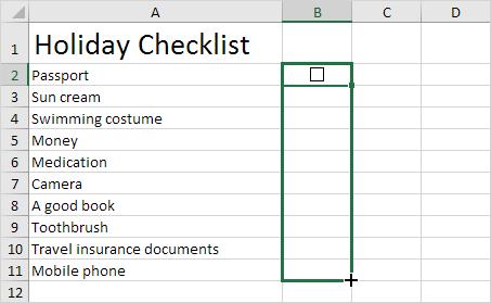 چگونگی ایجاد یک چک لیست (Checklist) در اکسل