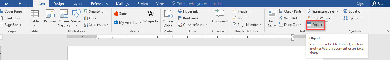 اضافه کردن فایل با هر فرمتی در Word . آموزشگاه رایگان خوش آموز