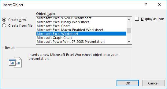 اضافه کردن Excel Worksheet در PowerPoint . آموزشگاه رایگان خوش آموز