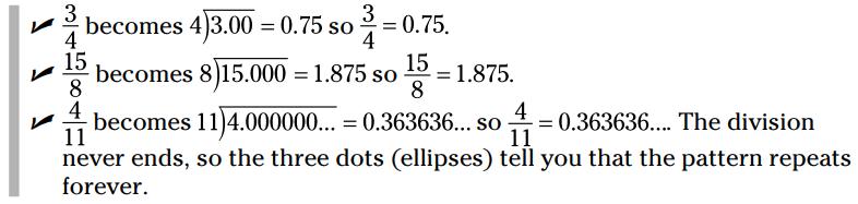 اعداد اعشاری (Decimals)