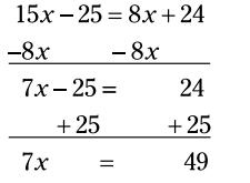 کسرها در معادلات جبری