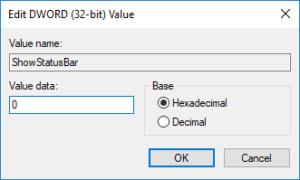 نمایش و یا مخفی کردن Status Bar یا نوار وضعیت در File explorer ویندوز . آموزشگاه رایگان خوش آموز