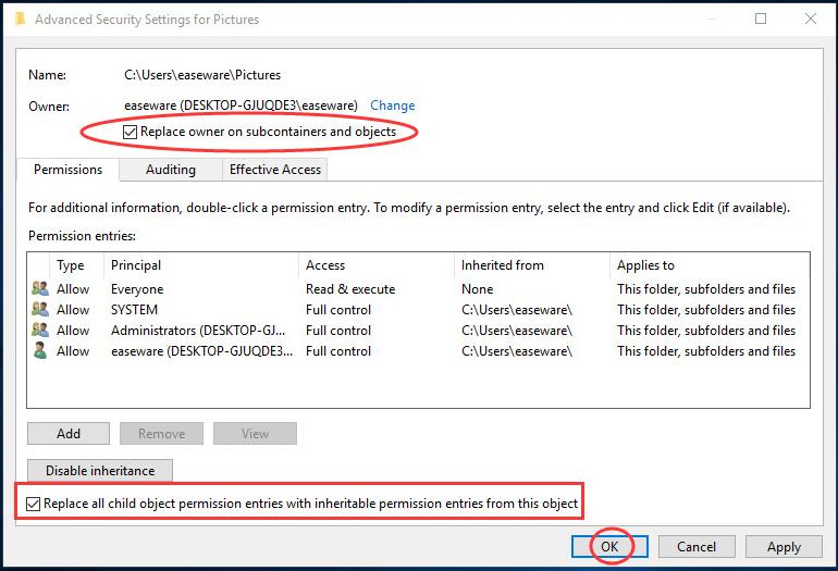برطرف کردن پیغام Failed to Enumerate Objects in the Container. Access is denied هنگام تغییر مجوزها بری فایل و فولدرها در ویندوز . آموزشگاه رایگان خوش آموز