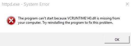 رفع ارور VCRUNTIME140.dll در ویندوز در هنگام اجرای برنامه . آموزشگاه رایگان خوش آموز
