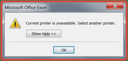 رفع ارور Current Printer Is Unavailable Select Another Printer هنگام پرینت گرفتن در اکسل . آموزشگاه رایگان خوش آموز