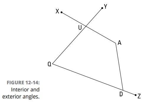 استفاده از فرمولهای زاویه و قطر چندضلعی