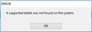 رفع ارور A supported tablet was not found on the system . آموزشگاه رایگان خوش آموز