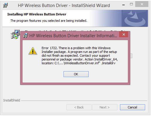 رفع ارور Error 1722 هنگام نصب HP Wireless Button Driver در ویندوز . آموزشگاه رایگان خوش آموز