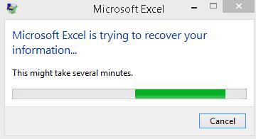 رفع ارور Microsoft Excel is trying to recover your information . آموزشگاه رایگان خوش آموز