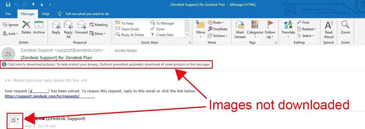 باز شدن خودکار تصاویر در ایمیل ها در اوت لوک . آموزشگاه رایگان خوش آموز