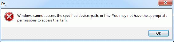 رفع ارور Windows cannot access the specified device, path, or file . آموزشگاه رایگان خوش آموز