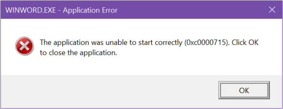 رفع ارور The application was unable to start correctly (0xc0000715). Click OK to close the application . آموزشگاه رایگان خوش آموز