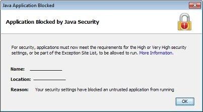 رفع ارور Security settings have blocked a self-signed Java application . آموزشگاه رایگان خوش آموز