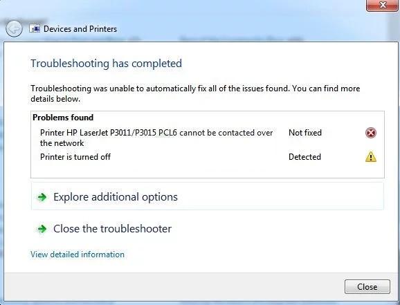 رفع ارور Printer Cannot be Contacted over the Network . آموزشگاه رایگان خوش آموز