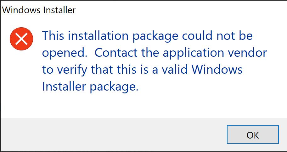 رفع ارور The Installation Package Could Not be Opened . آموزشگاه رایگان خوش آموز