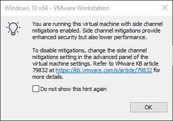 غیرفعال کردن ویژگی Side Channel Mitigation در VMWare Workstation- روشی برای افزایش سرعت VM . آموزشگاه رایگان خوش آموز