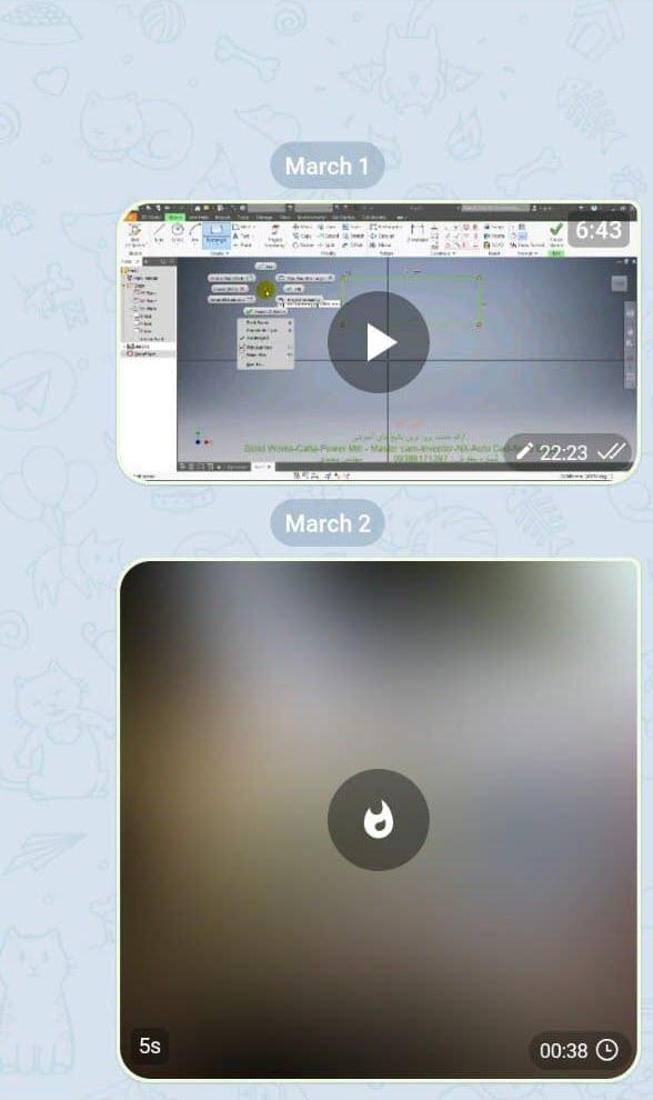 تعیین مدت زمان برای حذف شدن فایل در چت های تلگرام . آموزشگاه رایگان خوش آموز