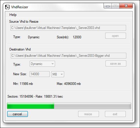 نحوه Resize کردن فایل VHD
