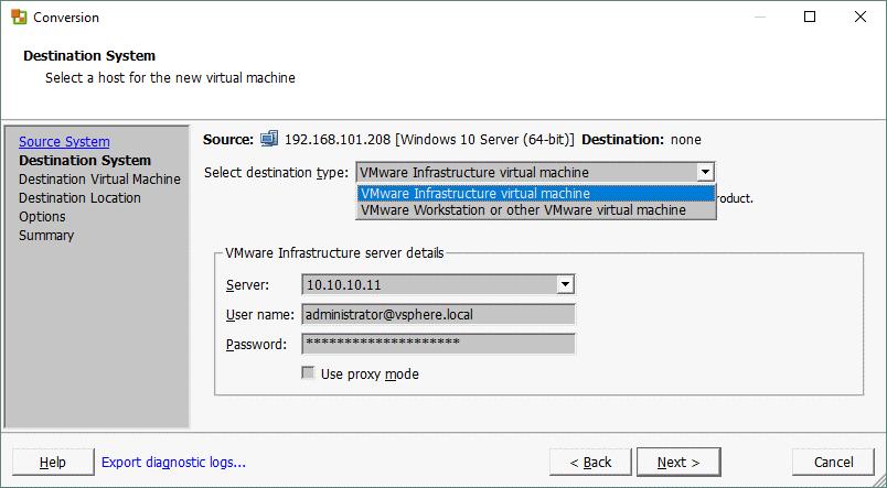 نحوه کانورت کردن سرور فیزیکی به VM در ESXI با VMware Converter . آموزشگاه رایگان خوش آموز