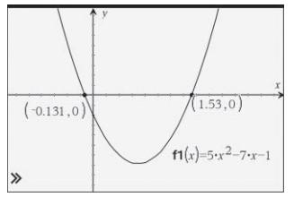 مثال 2: استفاده از فرمول حل معادلات درجه دوم برای حل معادلات درجه دوم