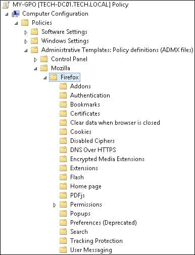 نحوه پیکربندی مرورگر فایرفاکس از طریق دامین گروپ پالیسی
