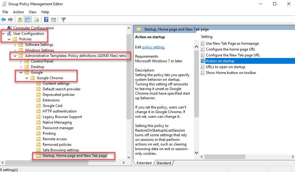تنظیم کردن startup page درمرورگر گوگل کروم برای همه کاربران تحت دامین