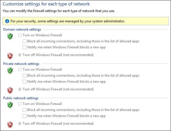 نحوه غیرفعال کردن Firewall ویندوز برای همه کامپیوترهای عضو دامین