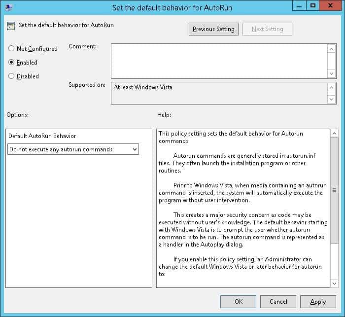 غیرفعال کردن Autorun و Autoplay روی کامپیوترهای تحت دامین از طریق گروپ پالیسی