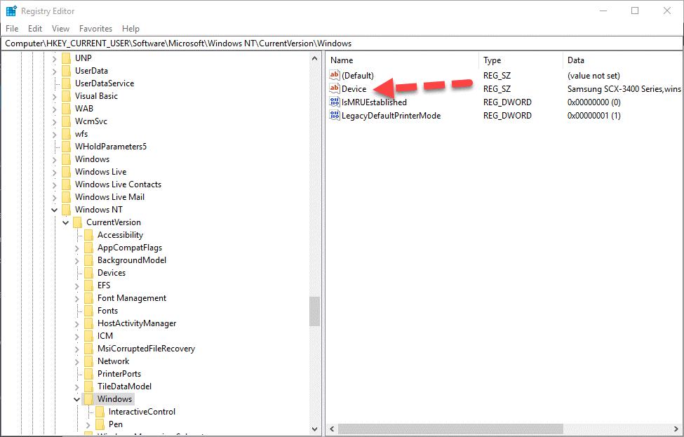 رفع خطای 0x00000709 هنگام پیشفرض کردن پرینتر