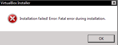 رفع ارور Installation failed! Error: Fatal error during installation در Virtualbox