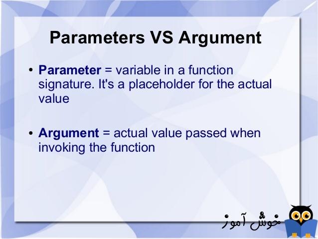 آموزش زبان #C : مقایسه آرگومان (argument) و پارامتر (parameter)