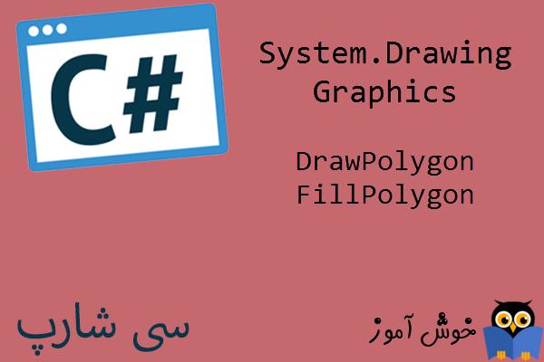آموزش زبان #C : ترسیم چند ضلعی و چند ضلعی توپر با تعداد گوشه های متغیر