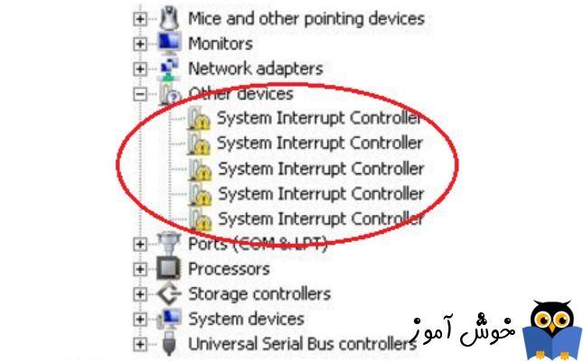 رفع مشکل System Interrupt Controller در Device manager ویندوز