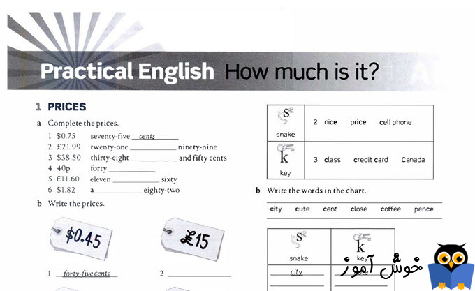 Workbook: practical English, How much is it