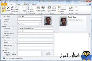 ذخیره تصاویر contact ها در outlook