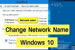 تغییر network name در ویندوز 10