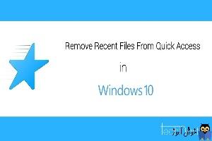 پاک کردن فایل های Quick access در ویندوز 10