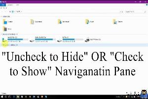 نمایش یا مخفی کردن navigation پانل File explorer در ویندوز 10