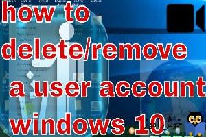 حذف یک حساب کاربری در ویندوز 10
